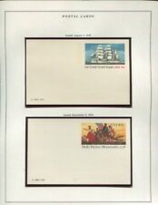 US POSTAL CARDS COLLECTION ON SCOTT SPECIALTY ALBUM PAGES 1978 TO 1989!