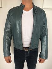 Men's Gstar Leather Biker Jacket Size L