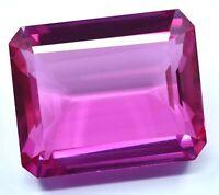 55.65 Ct Natural Mogok Pink Ruby Emerald Cut Stunning Gemstone AGSL CERTIFIED
