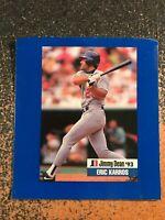 Eric Karros Dodgers 1993 Jimmy Dean HAND-CUT OVERSIZE POSTER SHEET CARD
