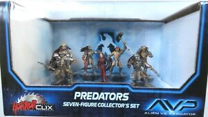 HorrorClix ~ PREDATORS Collector's Set AVP Alien vs Predator new in box