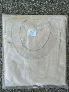Vtg NOS 1970s New in Package Blank T Shirt Fruit of the Loom USA Made Sz M 70s