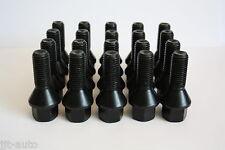 20 X M12 X 1,5 27mm Negro Rueda de la aleación Pernos Fit Mercedes Clase C W202 W203