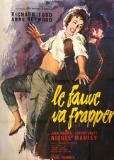 AFFICHE DE CINEMA: LE FAUVE VA FRAPPER...SUPERBE.