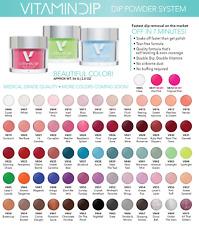 Triple Vitamin Nail Color Soak Off Dipping Dip Powder 2oz/56g ~YOU PICK~
