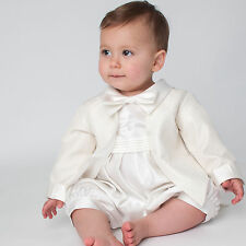 Baby Boys Christening Outfit Christening Suit Christening Romper Diamond Cream