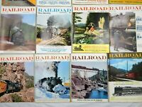 Railroad 1960s Lot Of 12 Trains Magazines