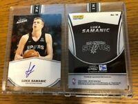 2019-20 Panini Instant Access Luka Samanic Spurs BLUE Autograph RC #/25