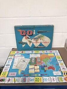 VINTAGE WADDINGTONS GO INTERNATIONAL TRAVEL BOARD GAME 1961 - COMPLETE