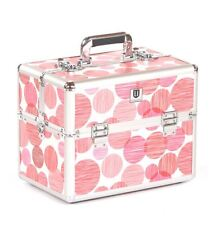 Vanity case Makeup box Cosmetic Beauty Nail Hair Jewellery Storage Red Dot
