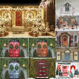 Door Christmas Tree Photo Background Studio Photography Backdrop Studio Props