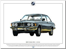 BMW 3 SERIES  (E21) - Fine Art Print - A3 size - German saloon car picture image