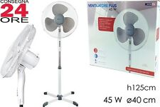 Ventilatore a Piantana Pala 40cm Oscillante 3 Velocità altezza REGOLABILE
