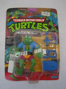 1989 Playmates TMNT Genghis Frog Action Figure 14 Back SEE DESCRITPTION