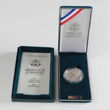 """Inc. 1991 /""""S/"""" USO Proof Commemorative Silver Dollar Box /& COA ECC/&C"""