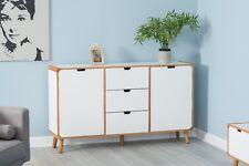 Scandinavian 2 Door 3 Drawer Sideboard Storage Cabinet Unit Home Furniture White