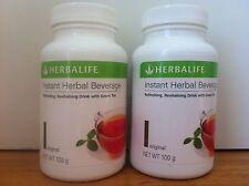 2x Herbalife Instant Herb Beverage Tea Conc 100g PEACH  Exp 2019 Aussie Stock