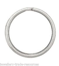 1x 925 STERLING SILVER 20mm Diameter Key Ring Keyring- Split Ring