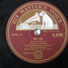 78rpm DONALD PEERS for you / powder your face with sunshine