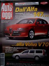 Auto Oggi 23 2000 Alfa 147 erede della 145. Volvo V70. BMW sfida Mercedes [Q72]