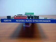 SNELL & WILCOX IQBSYN AES/EBU DIGITAL AUDIO SYNCHRONISER CARD WITH REAR MODULE