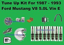 Major Tune Up Kit for 1987-1993 Mustang V8 Spark Plug Wire Set Air Oil due filte