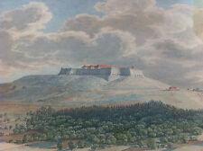 GOUACHE OF ROTHENFELS CASTLE, BERG ROTHENFELS, BAVARIA 18TH C. GERMAN OR ITALIAN