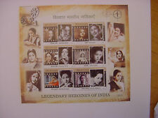 "- INDIA STAMPS - SOUVENIR SHEET:""LEGENDARY HEROINES OF INDIA"" - 2011 - 6 STAMPS"
