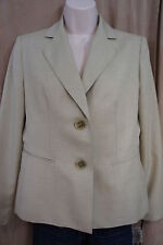 "Evan Picone Petite Suit Blazer Sz 6P Sage ""South Hampton""  Blazer Faux Pockets"
