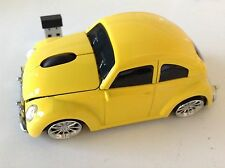 3D USB Wireless   Yellow  Volkswagen VW beetle car optical mouse Mice 3D PC/Lapt