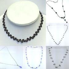 Handmade Crystal Round Costume Necklaces & Pendants