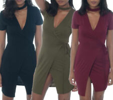 Viscose Stretch Bodycon Dresses for Women