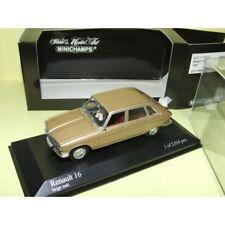 RENAULT 16 1965 Gold beige Minichamps 1 43 Avec Chien À Bord