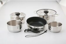 Galleyware 14-pc. Hybrid Nesting Induction Cookware Set