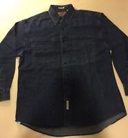 Savane Men's Long Sleeve Denim Shirt size Large