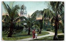 1910 Palm Beach, Fl Flagler Church Postcard