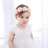 Toddler Baby Girl Kids Elastic Floral Headband Hair Hairband Headwear US Sale