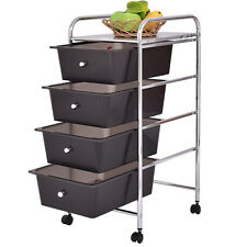 4 drawers metal rolling storage cart scrapbook supply u0026 paper home office - Metal Storage Bins