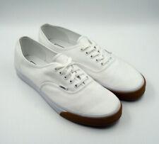 Mens Vans Authentic White Canvas Gum Size 13