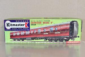 KITMASTER 14 KIT BUILT BR SOUTHERN GREEN MK1 CORRIDOR 2nd CLASS COACH kit nz