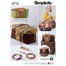 Simplicity Sewing Pattern 8710 Luggage Duffle Bags 2 Sizes Keyring Tassel
