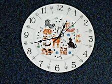 "Reloj De Pared Cats (Zaraza) Diseño 11"" grandes China de hueso-En Caja De Regalo"