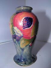 Rare Miniature William Moorcroft Early Pomegranate on Ochre Vase - Signed