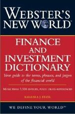 Webster's New World Finance and Investment Dictionary-ExLibrary