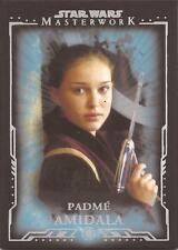 "Star Wars Masterwork - ""Padme Amidala"" Blue Parallel Base Card #8"