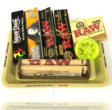RAW MINI ROLLING TRAY GIFT SET BLACK RAW ROLLING PAPERS GRINDER CHRISTMAS UK