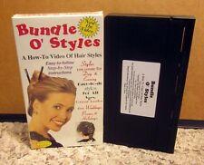 HAIR STYLES instructional Weddings Prom '96 French Twist VHS Bundle O Styles DIY