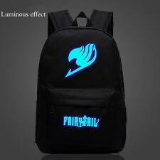 Japanese Anime FAIRY TAIL Luminous Zipper Backpack Student Schoolbag Travel Bag