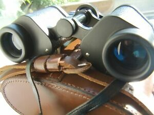 Barr+Stroud CF18 British classic coated binoculars Superb Red lined leather case
