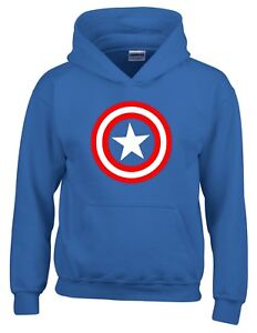 Captain America Shield Superhero Comic Hoodie